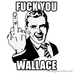 middle finger - Fuck You Wallace
