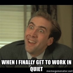Nick Cage -  when I finally get to work in QUIET