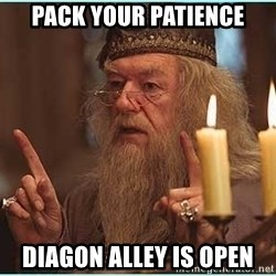 dumbledore fingers - Pack your patience Diagon Alley is open