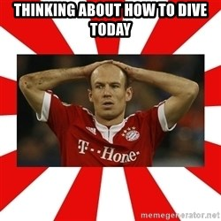 robben - Thinking about how to dive today