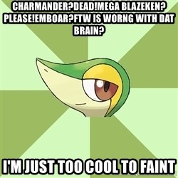 Smugleaf - Charmander?Dead!Mega Blazeken?Please!Emboar?FTW Is Worng With Dat Brain? I'm Just Too Cool To Faint
