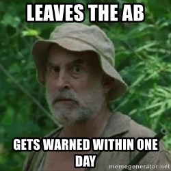 The Dale Face - LEAVES THE AB GETS WARNED WITHIN ONE DAY