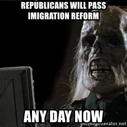 OP will surely deliver skeleton - republicans will pass  imigration reform any day now
