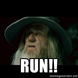 no memory gandalf -  RUN!!