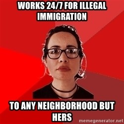 Liberal Douche Garofalo - works 24/7 for illegal immigration to any neighborhood but hers