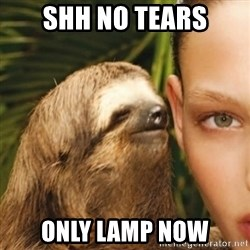 Whisper Sloth - shh no tears only lamp now