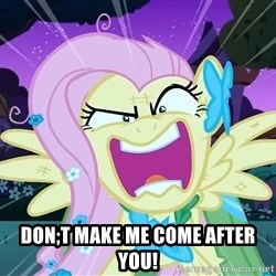 angry-fluttershy -  Don;t make me come after you!