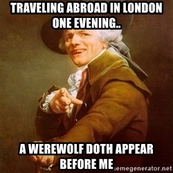 Joseph Ducreux - traveling abroad in london one evening.. a werewolf doth appear before me