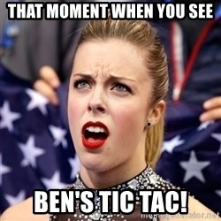 Ashley Wagner Shocker - That Moment when you see ben's tic tac!