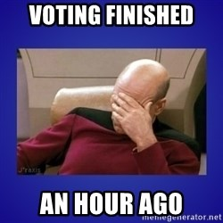Picard facepalm  - Voting finished An hour ago
