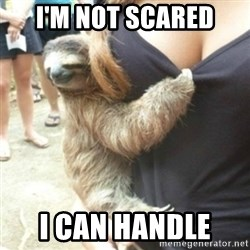Perverted Sloth - I'm not scared  I can handle