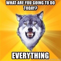 Courage Wolf - What are you going to do today? Everything