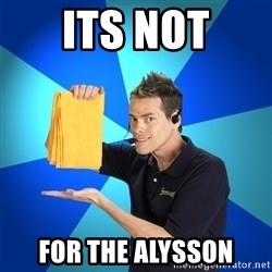 Shamwow Guy - ITS NOT FOR THE ALYSSON