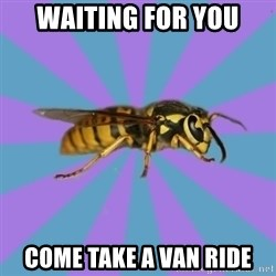 kyriarchy wasp - WAITING FOR YOU COME TAKE A VAN RIDE