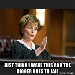 Case Closed Judge Judy -  JUST THINK I WAVE THIS AND THE NIGGER GOES TO JAIL