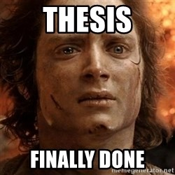 frodo it's over - THESIS FINALLY DONE