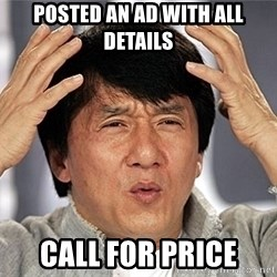 Jackie Chan - Posted an ad with all details Call for price