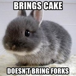 ADHD Bunny - Brings cake Doesn't bring forks