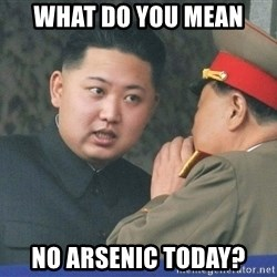 What Do You Mean....Kim Jong Un - what do you mean no arsenic today?