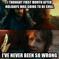Never Have I Been So Wrong - I thought first month after holidays was going to be chill I've never been so wrong