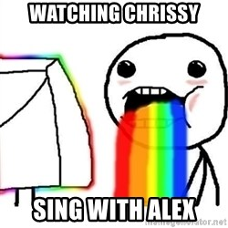 Puking Rainbows - watching chrissy sing with alex