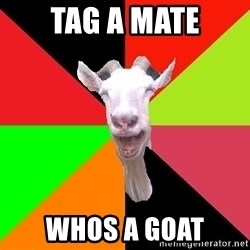 Goats - tag a mate whos a goat