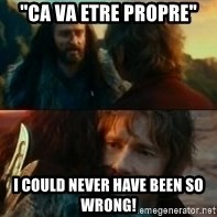 "Never Have I Been So Wrong - ""Ca va etre propre"" I could never have been so wrong!"