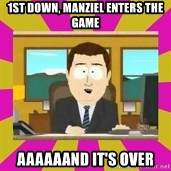 annd its gone - 1st down, Manziel enters the game aaaaaand it's over