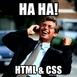 HaHa! Business! Guy! - HA HA! HTML & CSS