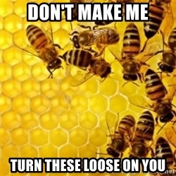 Honeybees - don't make me turn these loose on you