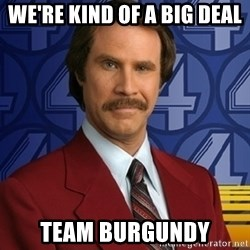 Ron Burgundy - We're kind of a big deal team burgundy