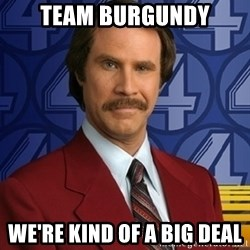 Ron Burgundy - Team burgundy we're kind of a big deal