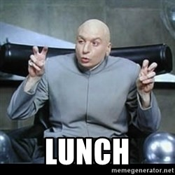 dr. evil quotation marks -  Lunch