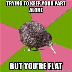 Choir Kiwi - trying to keep your part alone but you're flat