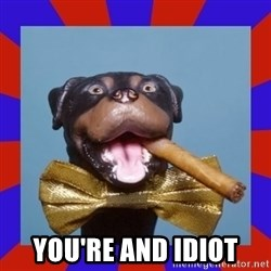 Triumph the Insult Comic Dog -  you're and idiot