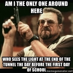 am i the only one around here - am i the only one around here who sees the light at the end of the tunnel the day before the first day of school