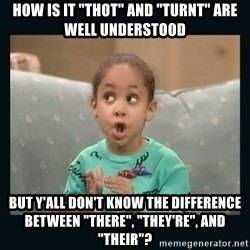 "Raven Symone - How is it ""thot"" and ""turnt"" are well understood But y'all don't know the difference between ""there"", ""they're"", and ""their""?"