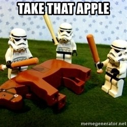 Beating a Dead Horse stormtrooper - Take that apple