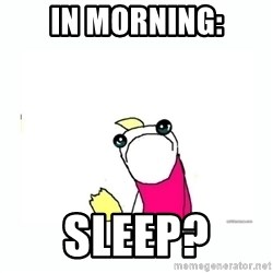 sad do all the things - In Morning: Sleep?
