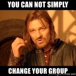 Lord Of The Rings Boromir One Does Not Simply Mordor - you can not simply  change your group