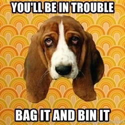 SAD DOG - You'll be in trouble Bag it and bin it