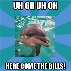 Dyscalculic Dolphin - uh oh uh oh here come the Bills!