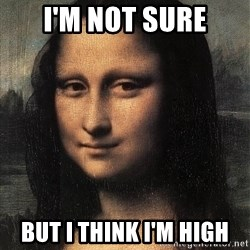 the mona lisa  - i'm not sure but i think i'm high