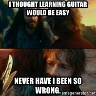 Never Have I Been So Wrong - i thought learning guitar would be easy never have i been so wrong.