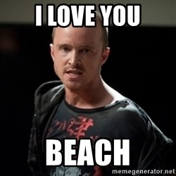 Jesse Pinkman says Bitch - I LOVE YOU Beach
