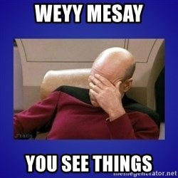 Picard facepalm  - Weyy Mesay You see things