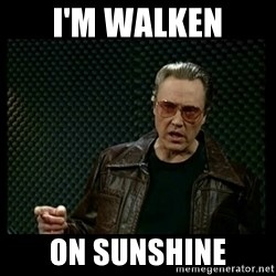 Christopher Walken Cowbell - I'm WALKEN on sunshine