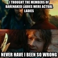 Never Have I Been So Wrong - i thought the members of barenaked ladies were actual ladies never have i been so wrong