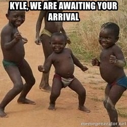 Dancing African Kid - Kyle, we are awaiting your arrival