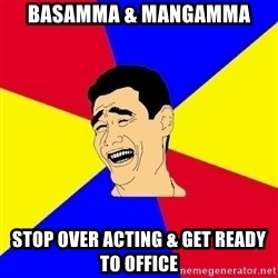 journalist - Basamma & Mangamma Stop over acting & get ready to office